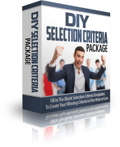 Do It Your-Self Selection Criteria Package.